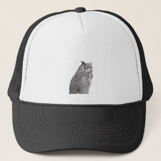 Portrait of owl isolated on white background trucker hat