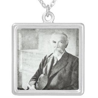 Portrait of P. L. Sclater, Square Pendant Necklace