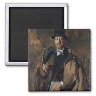 Portrait of Pal Szinyei Merse 2 Inch Square Magnet
