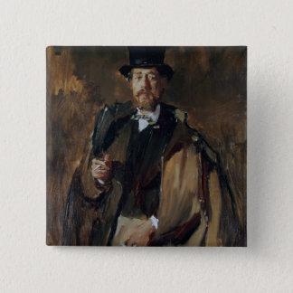 Portrait of Pal Szinyei Merse Pinback Button