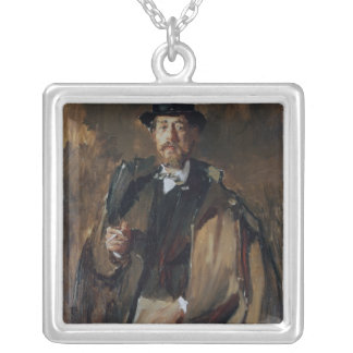 Portrait of Pal Szinyei Merse Silver Plated Necklace