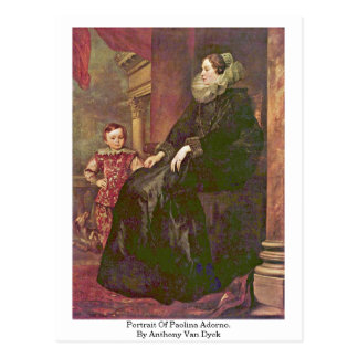 Portrait Of Paolina Adorno. By Anthony Van Dyck Post Card