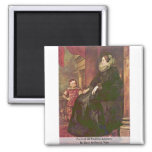 Portrait Of Paolina Adorno. By Dyck Anthonis Van Refrigerator Magnet