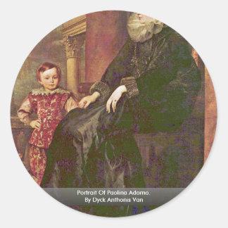 Portrait Of Paolina Adorno. By Dyck Anthonis Van Sticker