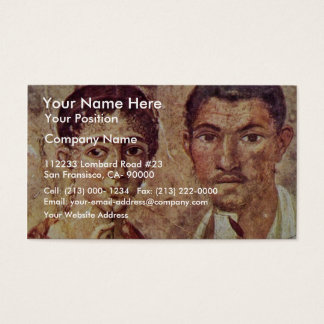 Portrait Of Paquius Proculus And His Wife By Meist Business Card