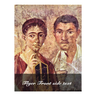 Portrait Of Paquius Proculus And His Wife By Meist Full Color Flyer