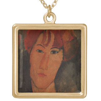 Portrait of Pardy, c.1915 (oil on canvas) Gold Plated Necklace