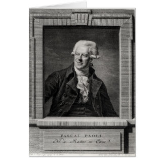 Portrait of Pascal Paoli Card