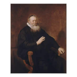 Portrait of Pastor Eleazer Swalmius, 1637-42 Poster