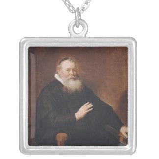 Portrait of Pastor Eleazer Swalmius, 1637-42 Silver Plated Necklace