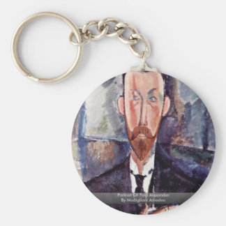 Portrait Of Paul Alexander By Modigliani Amedeo Basic Round Button Keychain
