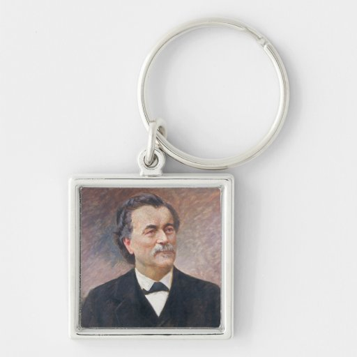 Portrait of Paul Bert Silver-Colored Square Keychain