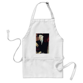 Portrait Of Paul Guillaume By Modigliani Amedeo Apron