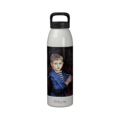 Portrait of Paul Haviland by Pierre Renoir Reusable Water Bottle