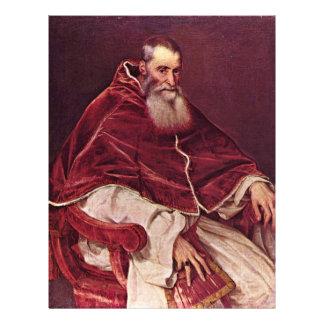 Portrait Of Paul Iii. By Tizian (Best Quality) Custom Flyer