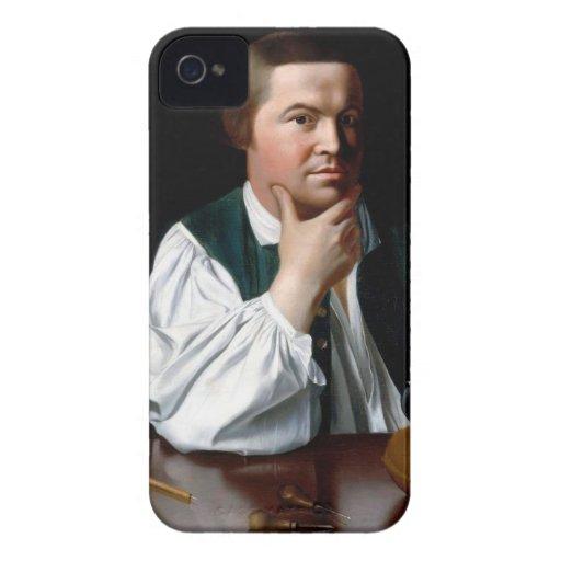 Portrait of Paul Revere Case-Mate iPhone 4 Cases