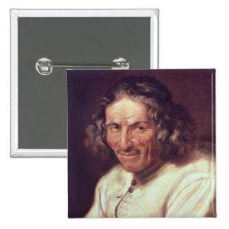 Portrait of Paul Scarron 2 Inch Square Button