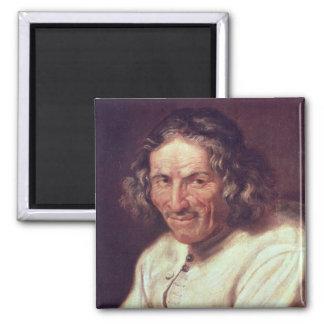 Portrait of Paul Scarron 2 Inch Square Magnet