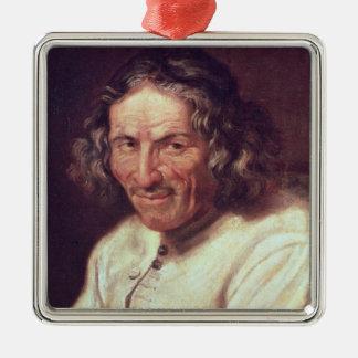 Portrait of Paul Scarron Square Metal Christmas Ornament