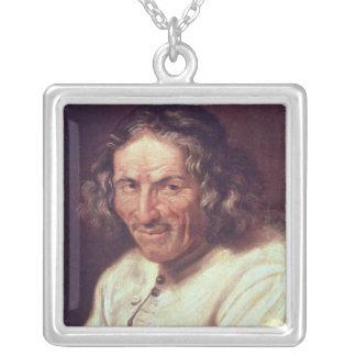 Portrait of Paul Scarron Square Pendant Necklace
