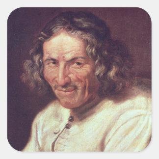 Portrait of Paul Scarron Square Sticker