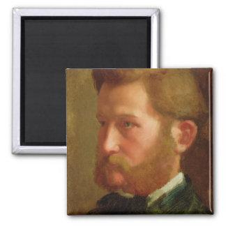 Portrait of Paul Vapincon, c.1868 (oil on panel) 2 Inch Square Magnet