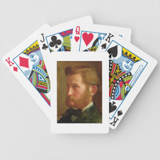 Portrait of Paul Vapincon, c.1868 (oil on panel) Bicycle Playing Cards