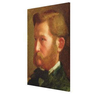 Portrait of Paul Vapincon, c.1868 (oil on panel) Canvas Print