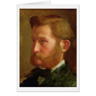 Portrait of Paul Vapincon, c.1868 (oil on panel) Card