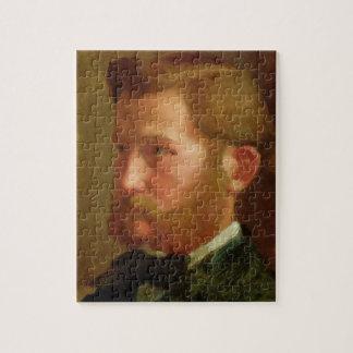 Portrait of Paul Vapincon, c.1868 (oil on panel) Jigsaw Puzzle