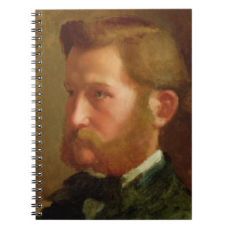Portrait of Paul Vapincon, c.1868 (oil on panel) Notebook