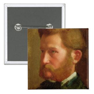 Portrait of Paul Vapincon, c.1868 (oil on panel) Pinback Button