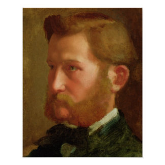 Portrait of Paul Vapincon, c.1868 (oil on panel) Poster