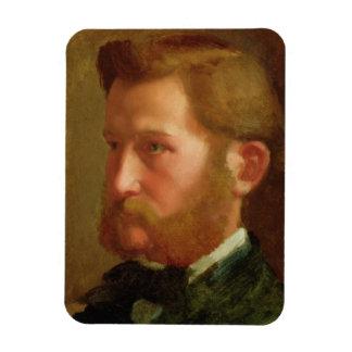 Portrait of Paul Vapincon, c.1868 (oil on panel) Rectangular Photo Magnet