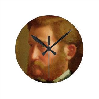 Portrait of Paul Vapincon, c.1868 (oil on panel) Round Clock