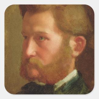 Portrait of Paul Vapincon, c.1868 (oil on panel) Square Sticker