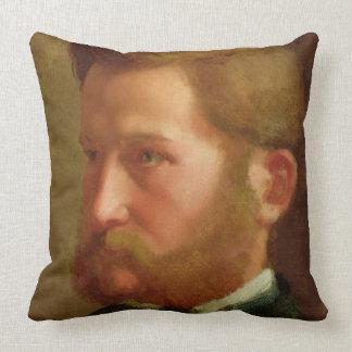 Portrait of Paul Vapincon, c.1868 (oil on panel) Throw Pillow