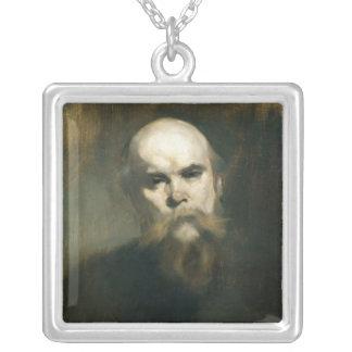 Portrait of Paul Verlaine  1890 Square Pendant Necklace
