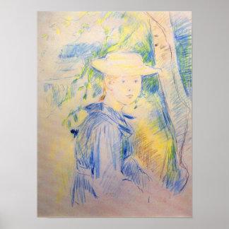 Portrait of Paule Gobillard by Berthe Morisot Posters