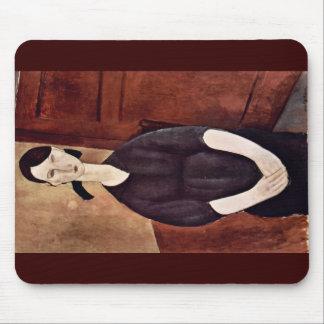 Portrait Of Paulette Jourdain By Modigliani Amedeo Mousepads