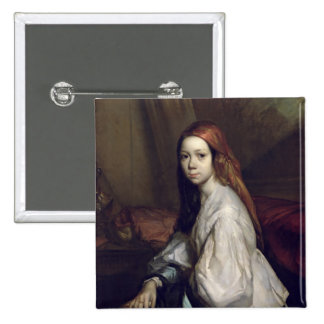 Portrait of Pauline Ono Pinback Buttons