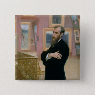Portrait of Pavel Tretyakov  in the Gallery Button