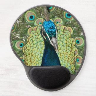 Portrait of peacock gel mouse pad