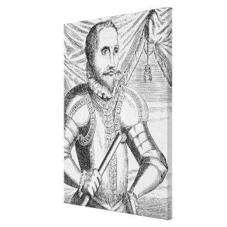 Portrait of Pedro de Valdibia Stretched Canvas Prints