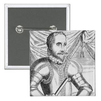 Portrait of Pedro de Valdibia Pinback Button