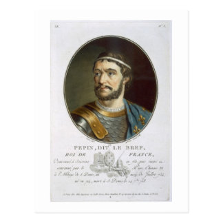 Portrait of Pepin, Called 'Le Bref', King of Franc Postcards