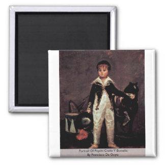 Portrait Of Pepito Costa Y Bonelis Magnet