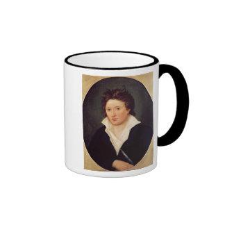 Portrait of Percy Bysshe Shelley, 1819 Ringer Mug