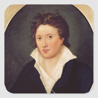 Portrait of Percy Bysshe Shelley, 1819 Square Sticker