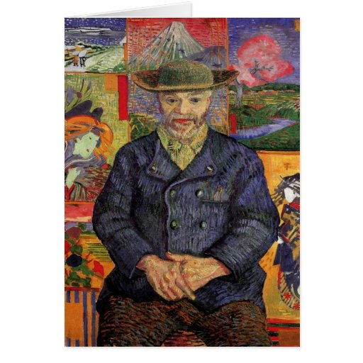 Portrait of Pere Tanguy by Vincent van Gogh Greeting Card
